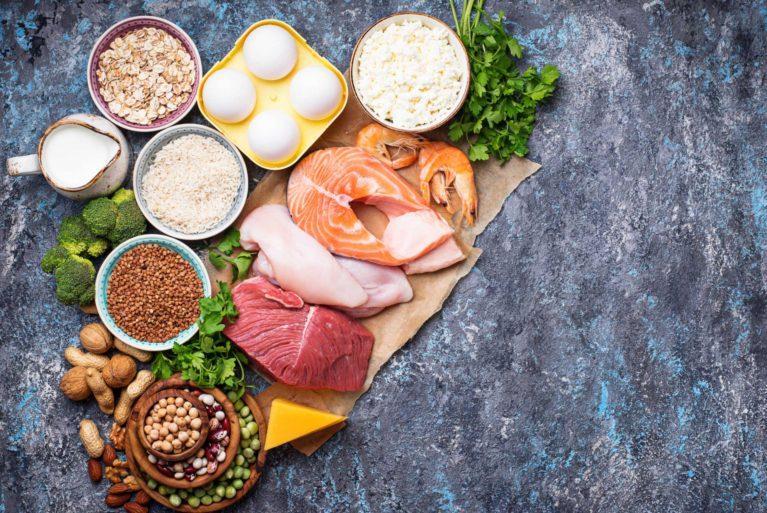 plateau d'aliments sain