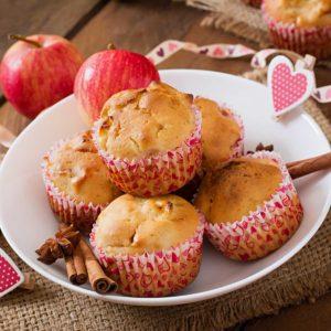 recette muffin aux pommes