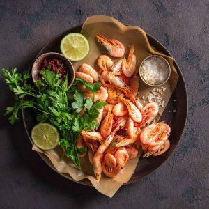 recette Poêlée de crevettes