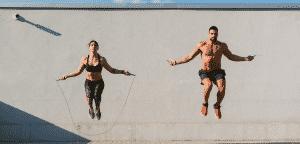 couple corde à sauter