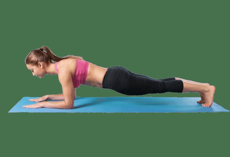 Yoga posture de la planche