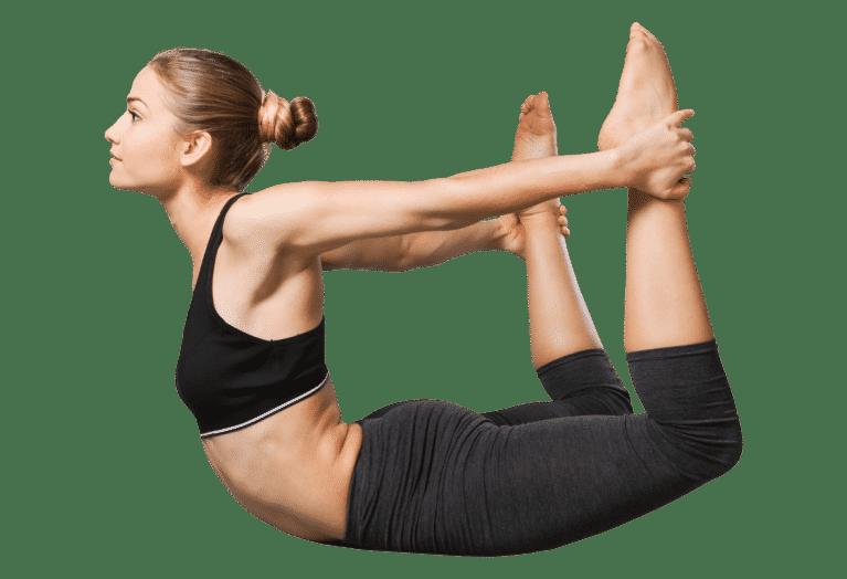 Yoga posture de l'arc