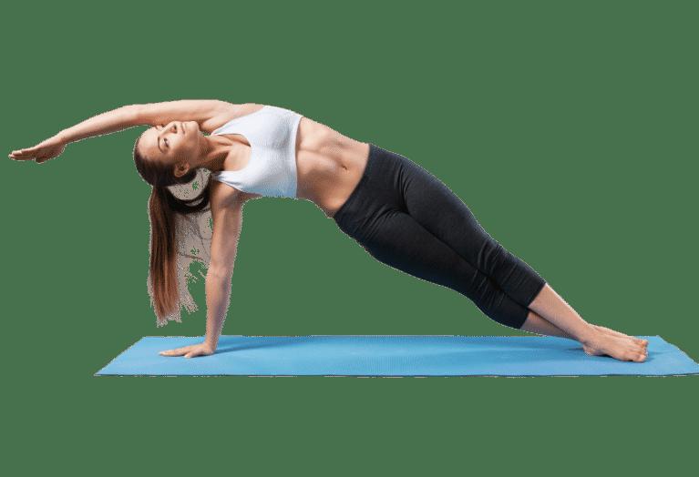 Yoga posture demi lune
