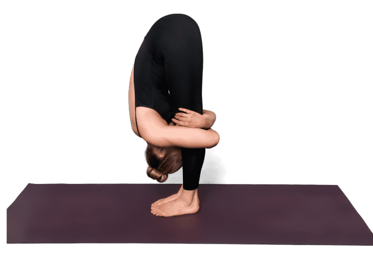Yoga posture forward fold