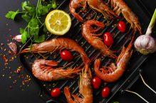 Poêlée de crevettes au citron coriandre gingembre